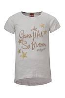 Легкая футболка-туника Glo-story для девочек; 104 размер