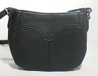 Черная вместительная  женская сумочка-клатч