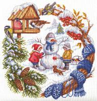 """Набор для вышивки крестом """"Panna"""" Зимние забавы Д-1347"""