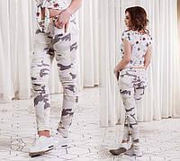 Женские стильные летние джинсы камуфляж (DG-ат 4158)