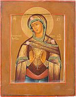 Икона семистрельная Богородица Умягчение злых сердец,  Россия, 19 век.