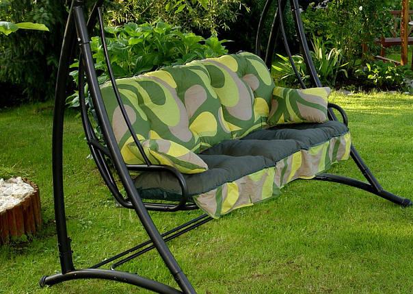 Подушки,матрасы для садовых качель 135 см.зелёная, фото 2