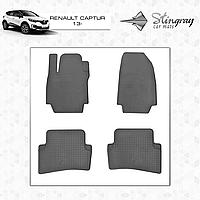 Коврики резиновые в салон Renault Captur c 2013 (4шт) Stingray