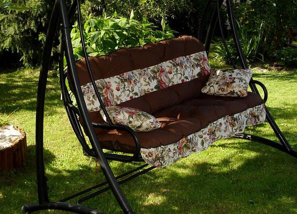 Подушки,матрасы для садовых качель 135 см. вст.цветы, фото 2