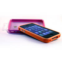 Бампер Silicone Case Gradient for iPhone 4,4S orange