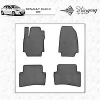 Коврики резиновые в салон Renault Clio III c 2005 (4шт) Stingray