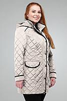 Женская демисезонная куртка Адена Nui Very крем 56