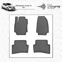 Коврики резиновые в салон Renault Clio IV c 2012 (4шт) Stingray
