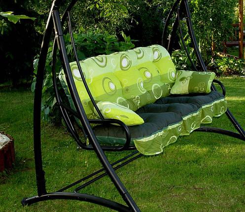 Подушки,матрасы для садовых качель 135 см.полоски, фото 2