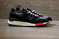 Мужские кроссовки New Balance 998 Black and red. Живое фото. Топ качество (нью бэланс)