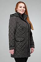 Женская демисезонная куртка Адена Nui  шоколад 52