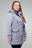 Женская демисезонная куртка Адена Nui Very св.серый 48