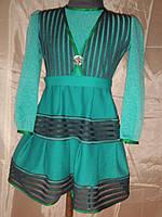 Трикотажное платье на 5-6 лет