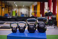 Гири обрезиненные от 2 до 36 кг рукоятка хром, гири для кроссфита и тренажерных залов премиум класса
