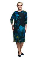 Женское повседневное платье батального размера 1705034