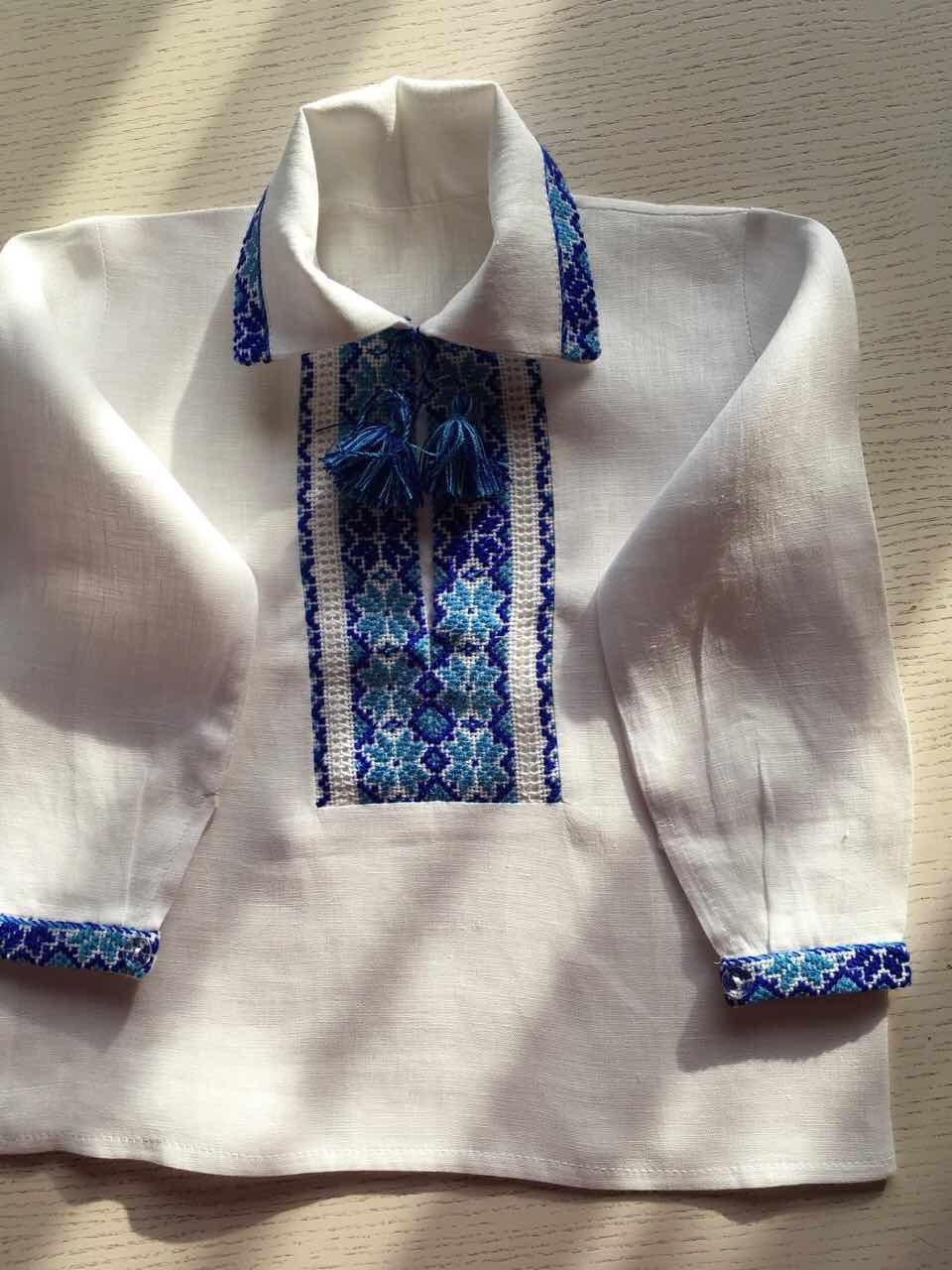 Сорочка вишита для хлопчика білий льон на 1-2 роки  продажа 8f4235ab1a3cf