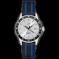 Мужские наручные часы Mercedes-Benz Men's watch, Sportive Young GMT, silver / black / blue