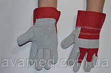 Перчатки ЗАМШЕВЫЕ плотные (ЖЕЛТЫЙ / КРАСНЫЙ)