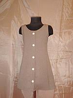 Сарафан - халат из тонкой шерсти на 6-7 лет