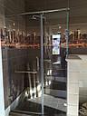 Угловая душевая кабина с распашной дверью на стекле, фото 5
