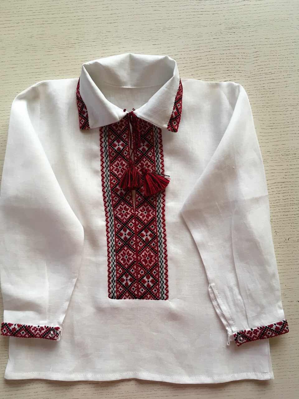 Біла вишиванка для хлопчика ручної роботи на 1-2 роки  продажа 4403ee616ffc9