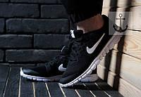 Мужские кроссовки Nike Free Run 3.0 🔥 (Найк Фир Ран) Черный - белый