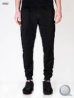 Мужские осенне-весенние брюки (карго) Forest - Сargo Black Art. K0002-2 (чёрный)