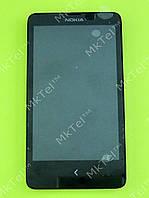 Дисплей Nokia X Dual SIM с сенсорным экраном, панелью Оригинал Китай Черный