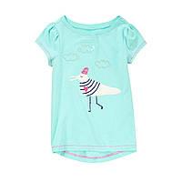 Детская футболка для девочки 4 года, 5-6 лет