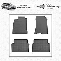Коврики резиновые в салон Renault Laguna III c 2007 (4шт) Stingray