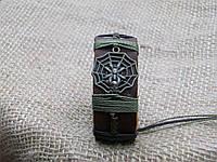 Оригинальный браслет из кожи ПАУК в паутине, ручная работа