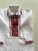 Біла вишиванка для хлопчика ручної роботи на 3-4 роки