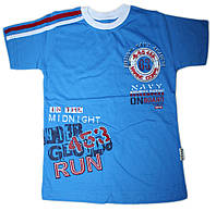 Модная детская футболка с вышивкой (рост от 104 до 128 см)