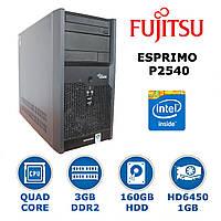 Fujitsu Esprimo - 4x2.5GHz /3GB DDR2 /Radeon HD6450 1GB
