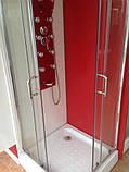 Квадратна душова кабіна Golston G-A3003, 900х900х1800 мм, скло прозоре, фото 4
