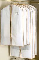 Чехлы для хранения и упаковки одежды флизелиновые, белого цвета