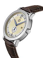 Мужские наручные часы Mercedes-Benz Men's Watch, Classic Steel Mark 2 Silver / Beige / Brown