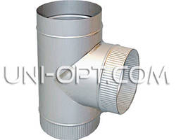Тройник трубы дымохода оцинкованый Ø100-300мм