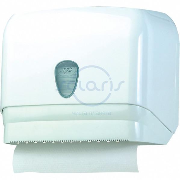 Диспенсер для бумажных полотенец универсальный, листовые V, С - укладка, рулонные (601)