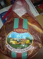 Прошутто крудо, сыровяленная ветчина, натуральная форма на кости, Италия, вес 6-9кг.