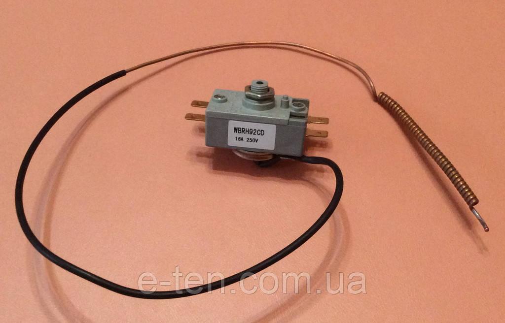 Термостат аварийный защитный капиллярный 16А / 250V / Tmax=92°С / L=60см для бойлеров Thermex, Garanterm, ATT