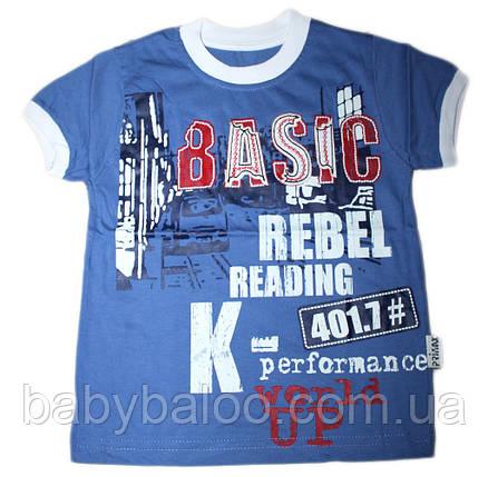"""Модная детская футболка с вышивкой """"Basic"""" (рост от 92 до 110 см), фото 2"""