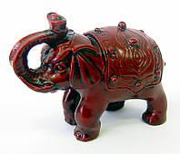 Слон с чашей каменная крошка коричневый (7х10х5 см)