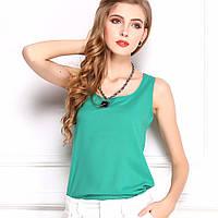 Шифоновая блузка зеленая