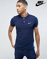 Футболка Поло Nike | Тёмно синяя (размер XXL)