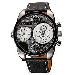 Мужские классические наручные часы OULM 9316 Steel