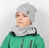 Трикотажный комплект(шапка+хомут)Ангора меланж, фото 1
