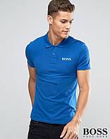 Футболка Поло Boss | Синяя тенниска Босс