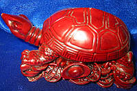 Черепаха каменная крошка коричневая (12,5х8,5х6 см)