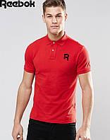 Футболка Поло Reebok | Красная тенниска Рибок